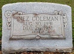 Inez <I>McDANIEL</I> Coleman