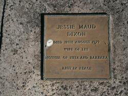 Jessie Maud <I>Simmons</I> Dixon