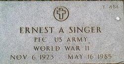 Ernest A Singer