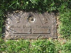 Wanda <I>Bowen</I> Thompson