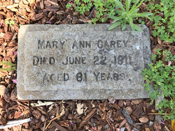 Mary Ann <I>Gotcher</I> Carey