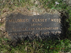 Mildred <I>Kersey</I> Weed