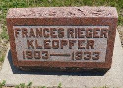 Frances <I>Rieger</I> Kleopfer