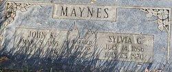 Sylvia <I>Godfrey</I> Maynes