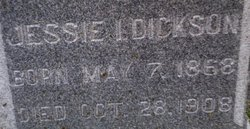 Jessie Ida <I>Thomas</I> Dickson