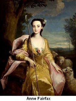 Mrs. Anne <I>Fairfax</I> Washington Lee