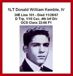 Lieut Donald William Kemble, IV