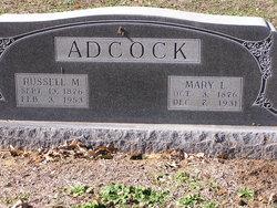 Mary L <I>Elliott</I> Adcock