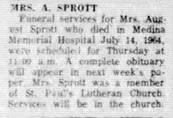 Lina C  Pfeiffer Sprott (1881-1964) - Find A Grave Memorial