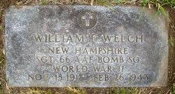 Sgt William F Welch