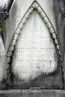 Elizabeth <I>Johnson</I> Thompson
