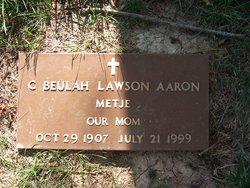 """Clara B """"Beulah"""" <I>Berry</I> Aaron"""