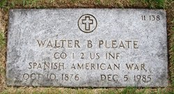 Walter B Pleate