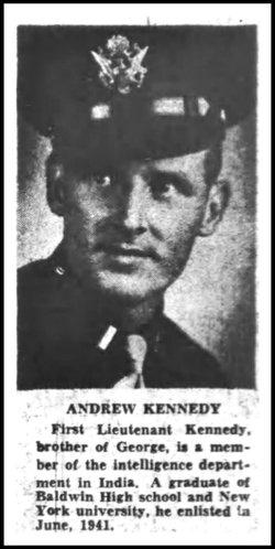 Lieut Andrew J Kennedy