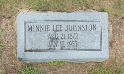 Minnie <I>Lee</I> Johnston
