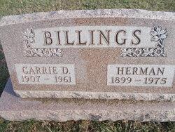 Carrie Delilia <I>Reynolds</I> Billings