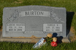 Blanche Mabel <I>Swanson</I> Burton