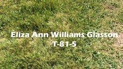 Eliza Ann <I>Williams</I> Glasson