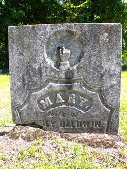 Mary <I>Maxham</I> Baldwin