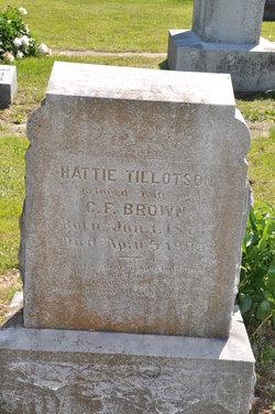 Hattie <I>Tillotson</I> Brown