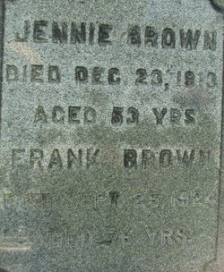Jennie <I>Washburne</I> Brown