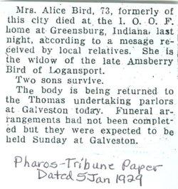 Alice J <I>Deacon</I> Bird