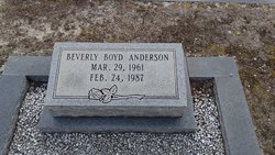 Beverly <I>Boyd</I> Anderson