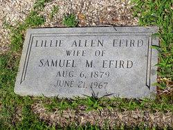 Mary Lillie <I>Allen</I> Efird