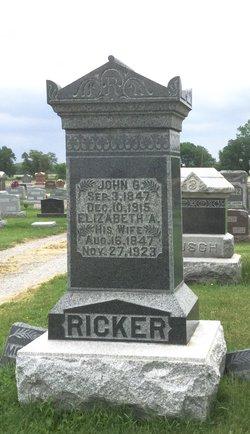 Elizabeth Anna <I>Henry</I> Ricker