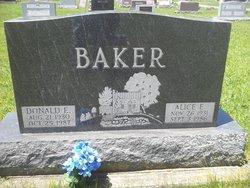 Alice E. <I>Bogan</I> Baker