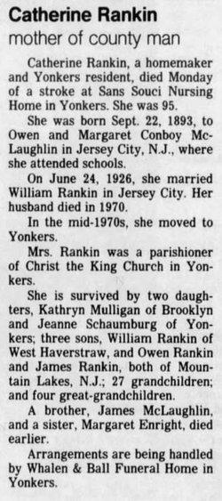 Catherine Agnes <I>McLaughlin</I> Rankin