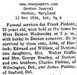 "Francis H ""Frank"" Pinkine"