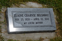 Elaine <I>Charvoz</I> Holdaway
