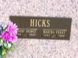 Martha <I>Perry</I> Hicks