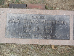 Mary Evelyn <I>Evans</I> Anderson