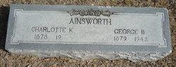 "Charlotte ""Lottie"" <I>Kelleher</I> Ainsworth"
