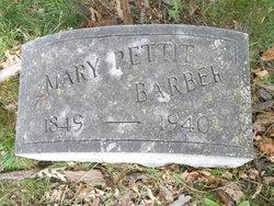 Mary Elizabeth <I>Pettit</I> Barber