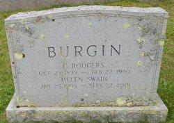 Helen <I>Swain</I> Burgin