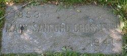 Mary <I>Sanford</I> Crossett