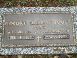 "Florence Elizabeth ""Geda"" Foriest"