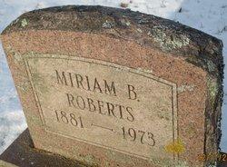 Miriam B Roberts