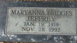 Mary Anna <I>Bridges</I> Jeffrey