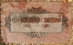 Rev Bernard Loss McCord