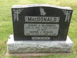 Marion J <I>Whalen</I> MacDonald