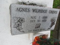 Agnes <I>Wilridge</I> Chevis