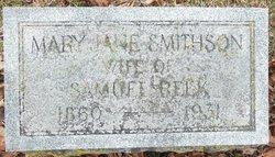 Mary Jane <I>Smithson</I> Reek