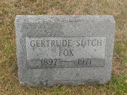 Gertrude <I>Sutch</I> Fox