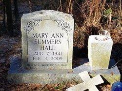 Mary Ann <I>Summers</I> Hall
