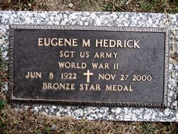 SGT Eugene M Hedrick