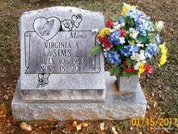 Virginia A <I>Sipe</I> Sims